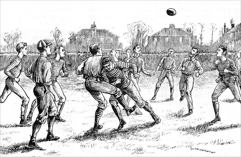 Match der Old Etonians gegen die Blackburn Rovers (um 1870)