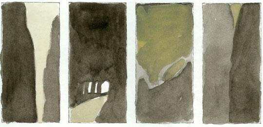 graphic novel von katharina vasces und dem kobboi - landschaft schlucht gondo simplon
