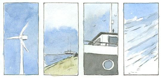 graphic novel von katharina vasces und dem kobboi - windenergie windturbine
